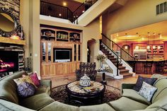 Love the stairs. And the couch too :)