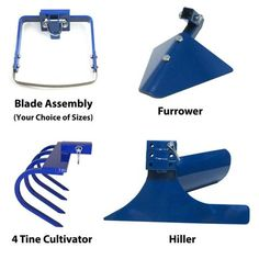 Complete Attachment Package with Hiller for the Valley Oak Wheel Hoe – Valley Oak Tool Company Garden On A Hill, Garden In The Woods, Farm Tools, Garden Tools, Small Garden Tiller, Garden Tractor Attachments, Garden Cultivator, Tractor Implements, Old Farm Equipment