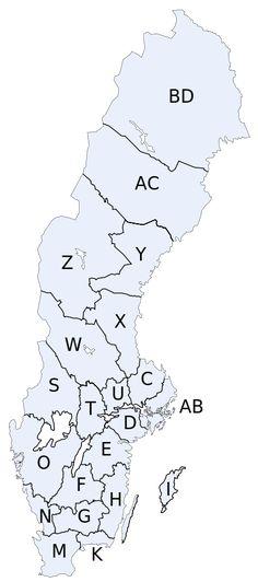 Karta med Sveriges län