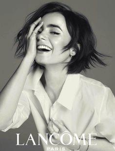 Lily Collins in Lancôme  Pinterest//audreyyygrace16