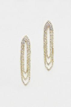 Crystal Rain Chandelier Earrings//