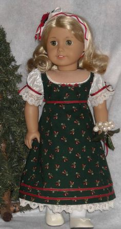 1812 Regency Holiday Dress and