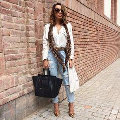 Mariann Mezo @cashmereinstyle Wearing a light w...Instagram photo | Websta (Webstagram)