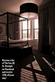 Become a fan on Inn @ St Botolph Facebook Page and receive 10% off your stay!! https://www.facebook.com/innatstbotolph