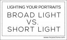 Lighting Your Portraits: Broad Light vs. Short Light