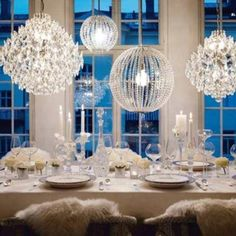 Chandeliers for table scene