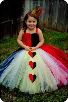 The Red Queen / Queen of Hearts Tutu Dress
