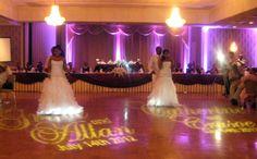 Two Brides with Monogram smiles