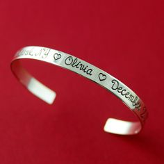 Personalized Sterling Silver Custom Cuff by SpiffingJewelry