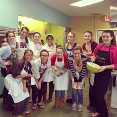 A cooking class would make a fun sisterhood event! You could even do this before a bake sale fundraiser to make goodies for the sale!
