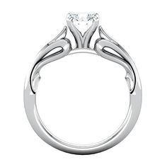Uniquely Designed - Sculptural Engagement Base Engagement Rings - OUR PRICE: $399.99 - Metal Type:  Platinum - http://www.mybridalring.com/Rings/sculptural-engagement-base-engagement-ring/