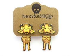 Cute Pale Man Cling Earrings by nerdgirlwensi on Etsy
