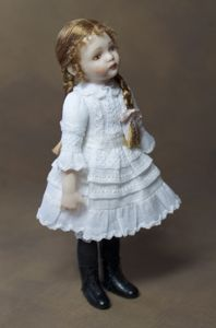 "Annabelle, 3 1/2"" tall, by Lisa Johnson-Richards"