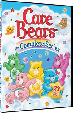 The Care Bears 'The Complete  Series' DVD by Mill Creek - All 22 Original Episodes! Come Back to Care-A-Lot! From the magical land in the clouds called Care-a-lot, comes everyone's furry friends, The Care Bears. Along with their relatives, The Care Bear Cousins, they travel all over the world to help children through the power of caring. Many times, the Care Bears must use their powers to stop the evil plans of Professor Coldheart and is assistant Frostbite.