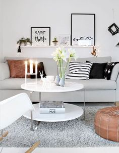 45 Amazing Scandinavian Living Room Designs : 45 Amazing Scandinavian Living Room Designs With White Wall And Wooden Cabinet And Grey Couch ...