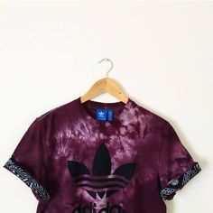 44ee91226ab Unisex Authentic customised Adidas Originals Tie Dye cuff paisley cuff  combo Burgundy Maroon Blood Red Tie