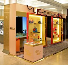 Pop Up Shop Design / Retail Design / Semi Permanent Retail Fixtures / VM / Retail Display / Fendi Bag Bugs Pop Up at Harrods