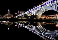 Cleveland at Night by Mark Perry, via 500px