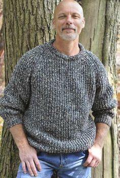 9f2d6ef1b15e8 Womens Mens knitting pattern fishermans rib sweater chunky sweater ...