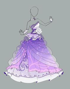 super pretty cute dresses in anime easy to battle in Drawing Anime Clothes, Dress Drawing, Fashion Design Drawings, Fashion Sketches, Kleidung Design, Illustration Mode, Anime Dress, Dress Sketches, Fantasy Dress