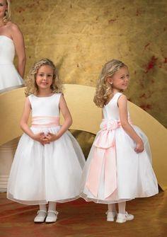 Ball Gown Scoop neck Tea-length Organza Flower Girl Dress : Parisbonbon.com @gtl_clothing #getthelook http://gtl.clothing