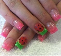 I love these, but not together. The watermelon part is too cute for summer.