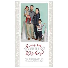 Warm Winter is a 4x7 one-sided card. Visit our website for more holiday card options! | JCPenney Portraits