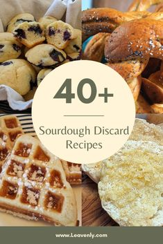 Wondering what to do with that sourdough discard? Look no further! Leavenly has combed the Internet in search of the greatest sourdough discard recipes. Sourdough pancakes, English muffins, zucchini bread, pizza dough, bagels, rolls, cinnamon rolls, biscuits, blueberry muffins, and much much more!