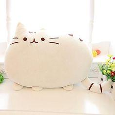 Söt Big Cat Form Kudde Kudde Soft Plush Toy Doll Hem Soffa Dekoration Decor – SEK Kr. 215