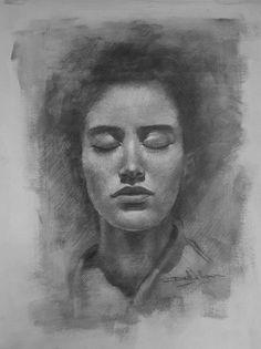 Charcoal drawing portrait. #portrait #charcoaldrawing #art #portrait