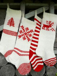 christmas stocking wool hand knit white cranberry red deer tree snowflake ornaments christmas decoration gift