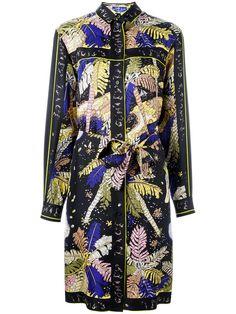 EMILIO PUCCI Palm Trees Print Shirt Dress. #emiliopucci #cloth #dress