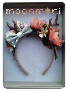 Woodland Mori Girl Headband with Antlers from moonmori