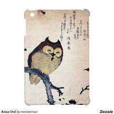 Asian Owl iPad Mini Cases #Owl ##Bird #Asian #Japanese #Japan #iPad #iPadMini #Case #Cover