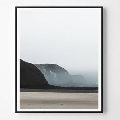 Landcape Print, Neutral Photography, Sea print, Minimal photo, Minimalist, Sea…