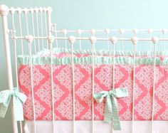 coral baby bedding