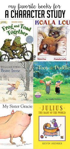 These are my favorite books for teaching character changes, comparing characters, and having a character study in a first or second grade classroom! Head over to the post to get lesson ideas and questions for each book!