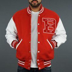 e13c208bfed Billionaire Boys Club BBC Men Letterman Jacket Red White [Billionaire Boys  Club BBC Men Letterman Jacket Red White] - $84.00 : letterman jackets cheap