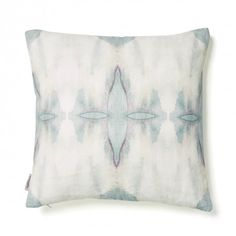 Eskayel Ripple Pillow  Abstract expressionism brought to life in desaturated colors, the Ripple pillow repeats fluid designs in soft hues.