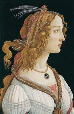Botticelli's masterpiece Portrait of a young woman, 1484