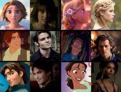 Lol Disney vs TVD... Where are Elena, Stefan, and Caroline though?