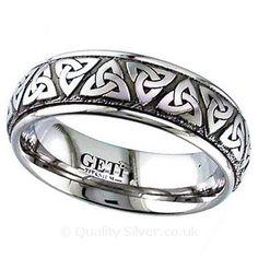 Geti Trinity Titanium Ring #Geti  #Celtic #TitaniumRing