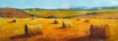 Summer landscape Tuscany Italian country original oil on canvas of Gino Masini painter Italy Italia - Dipinto Toscana paesaggio estivo