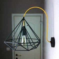 Himmeli Light Diamond Minimal Wall Lamp Light Cage Geometric Black  Matte Wall Sconce