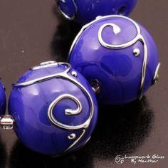 Lampwork Beads Handmade Metallic Scrolls by HeatherBehrendtGlass, $35.99 #Lampwork #Beads #glass