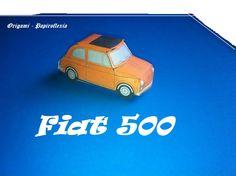 Paper Toys. Origami - Papiroflexia. Fiat 500