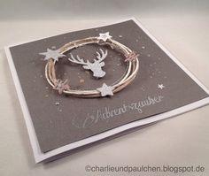 Charlie & Paulchen: Adventszauber Stamped Christmas Cards, Stampin Up Christmas, Christmas Scrapbook, Xmas Cards, Handmade Christmas, Holiday Cards, Christmas Crafts, Karten Diy, Card Tutorials
