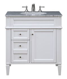 "32"" Single Bathroom Vanity set in White"
