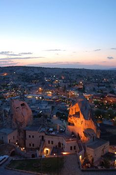 Turkey-view from the overlook in Goreme looking at the hotel I stayed at ..... Loved loved loved Cappadoccia Cave Suites