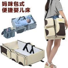 66.30$  Watch now - http://aliwg8.worldwells.pw/go.php?t=32736683109 - Fashion Baby Cribs Diaper Stuff Organizer Stroller Mother Waterproof Nappy Changing Bags Brand Baby Bed Portable Bags C1040 66.30$